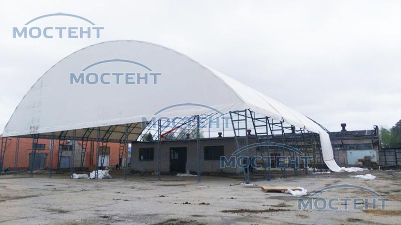 Сборка ангара в Черноголовке