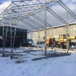 Монтаж ангара в Климовске