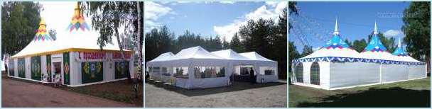 Модульные шатровые конструкции