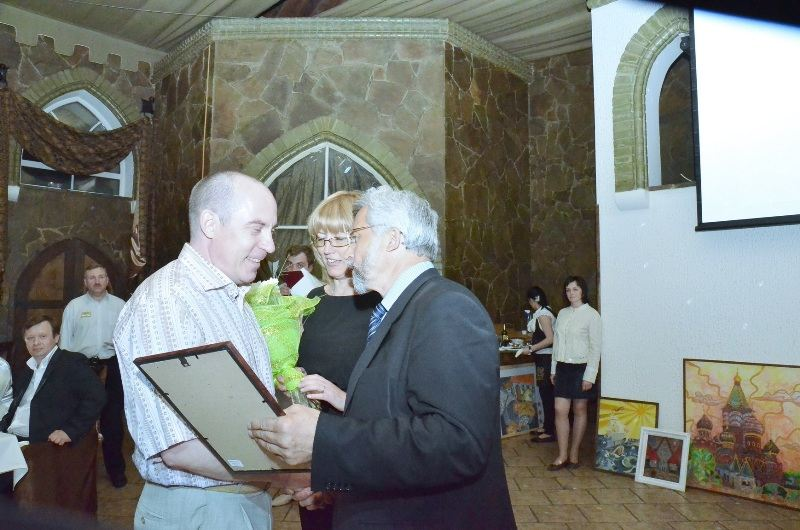 Вручение награды лучшему предприятию Подольска