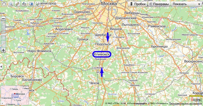 Схема проезда в Мостент