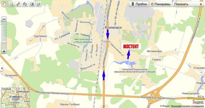 Как проехать в Мостент