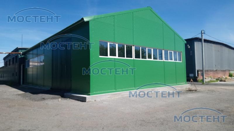 Утепленный ангар от Мостент