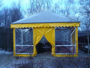 Тенты и шатры для дачи