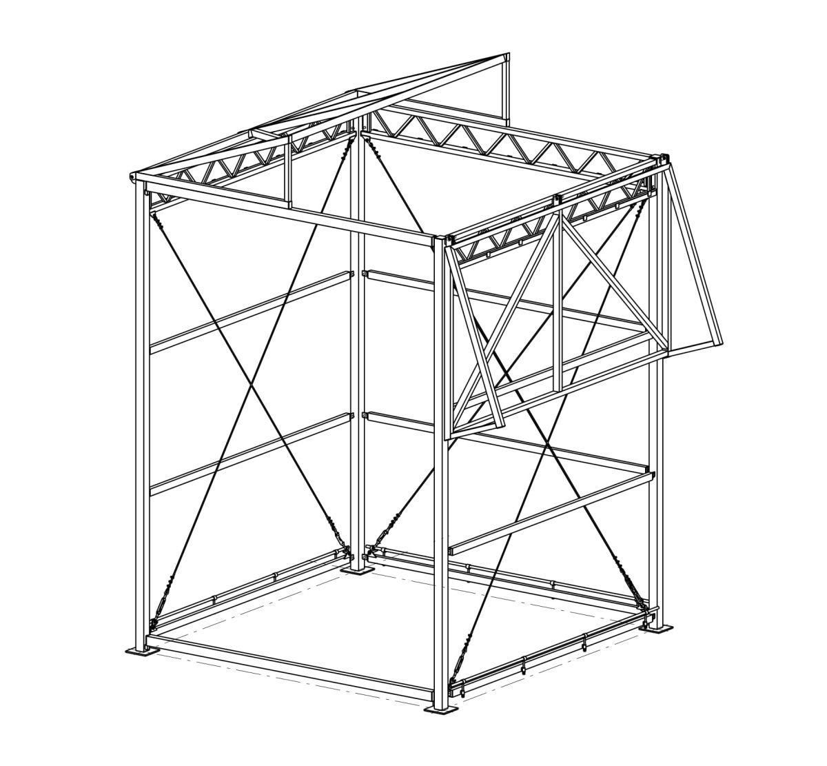 Схема промышленной палатки